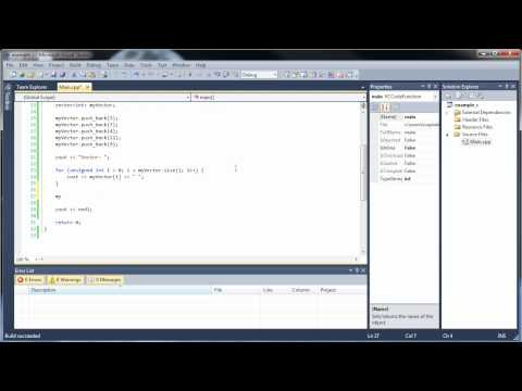 C++ Tutorial 18 - Vectors and Vector Functions