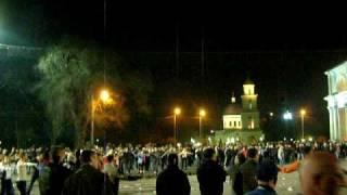 Seara în Piaţa Marii Adunări Naţionale din Chişinău, 7 aprilie 2009, ora 20.49