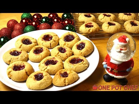 Peanut Butter and Jam (PB&J) Cookies | One Pot Chef