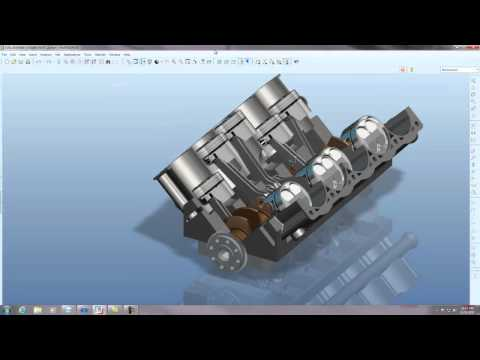 Pro/Engineer V10 Engine Animation