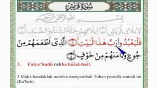 Quraisy Arab Latin Dan Terjemahannya