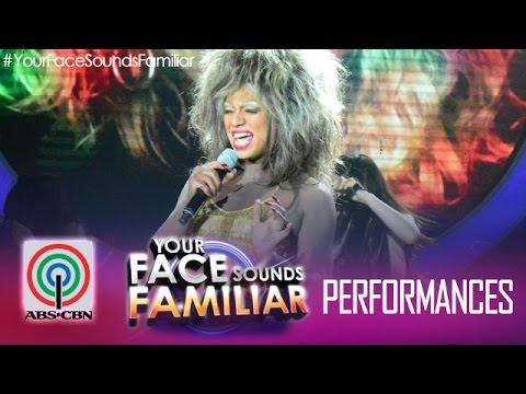 """Your Face Sounds Familiar: Nyoy Volante as Tina Turner - """"Proud Mary"""""""