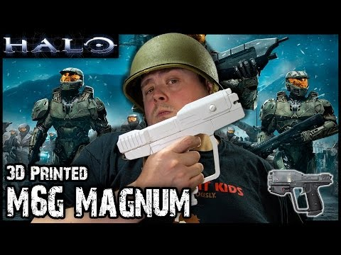3D Printing Halo M6D Magnum Pistol on Ultimaker v2 in colorFabb XT