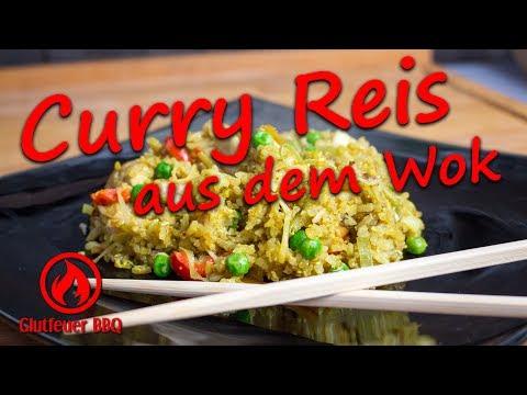 Gebratener Reis mit Gemüse und Hühnchen aus dem Wok - Glutfeuer BBQ - Grillrezept - UC64ZVlBPwfLY7SbB2-vX3oQ