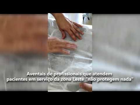 'Aventais de profissionais que atendem pacientes em serviço da zona Leste