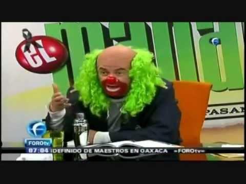 Brozo manda a la chingada a Eruviel Avila candidato del PRI al EdoMex