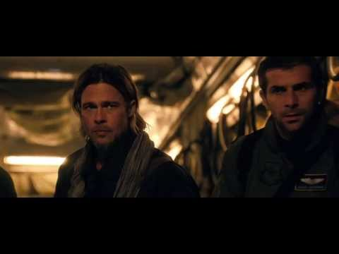 Brad Pitt stars in WORLD WAR Z movie. In theaters Friday!   Follow World War Z movie on Twitter: https://Twitter.com/WorldWarZMovie  LIKE World War Z movie on Facebook:  https://www.Facebook.com/WorldWarZMovie  Visit the World War Z movie official movie site:  http://www.WorldWarZMovie.com
