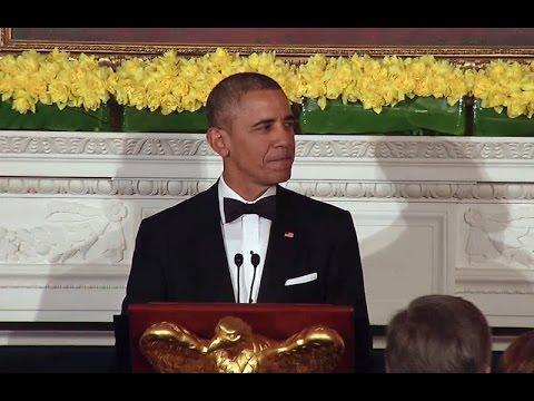President Obama Speaks at the 2015 NGA Dinner