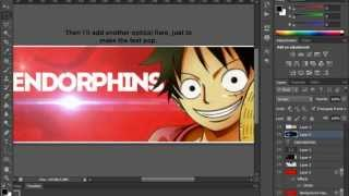 Photoshop CS6 Tutorial | How to make a Forum Signature Banner | EndorphinsGfx