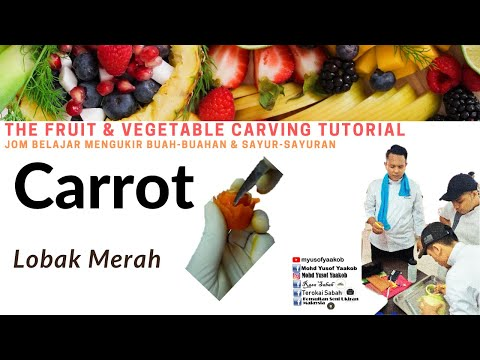 Fruit Carving / Ukiran buah : Carrot_Cucumber carving