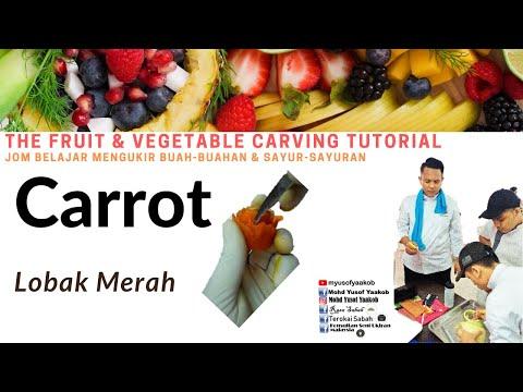 Fruit Carving / Ukiran buah : Carrot_Cucumber carving