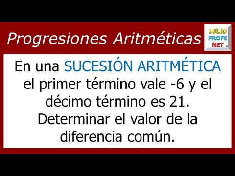 Encontrar el valor de la diferencia común en una Sucesión Aritmética