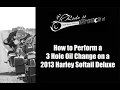 How to Change the Oil on a 2013 Harley Davidson Softail Deluxe