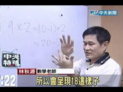 簡單!手指凹一凹 算出九九乘法答案