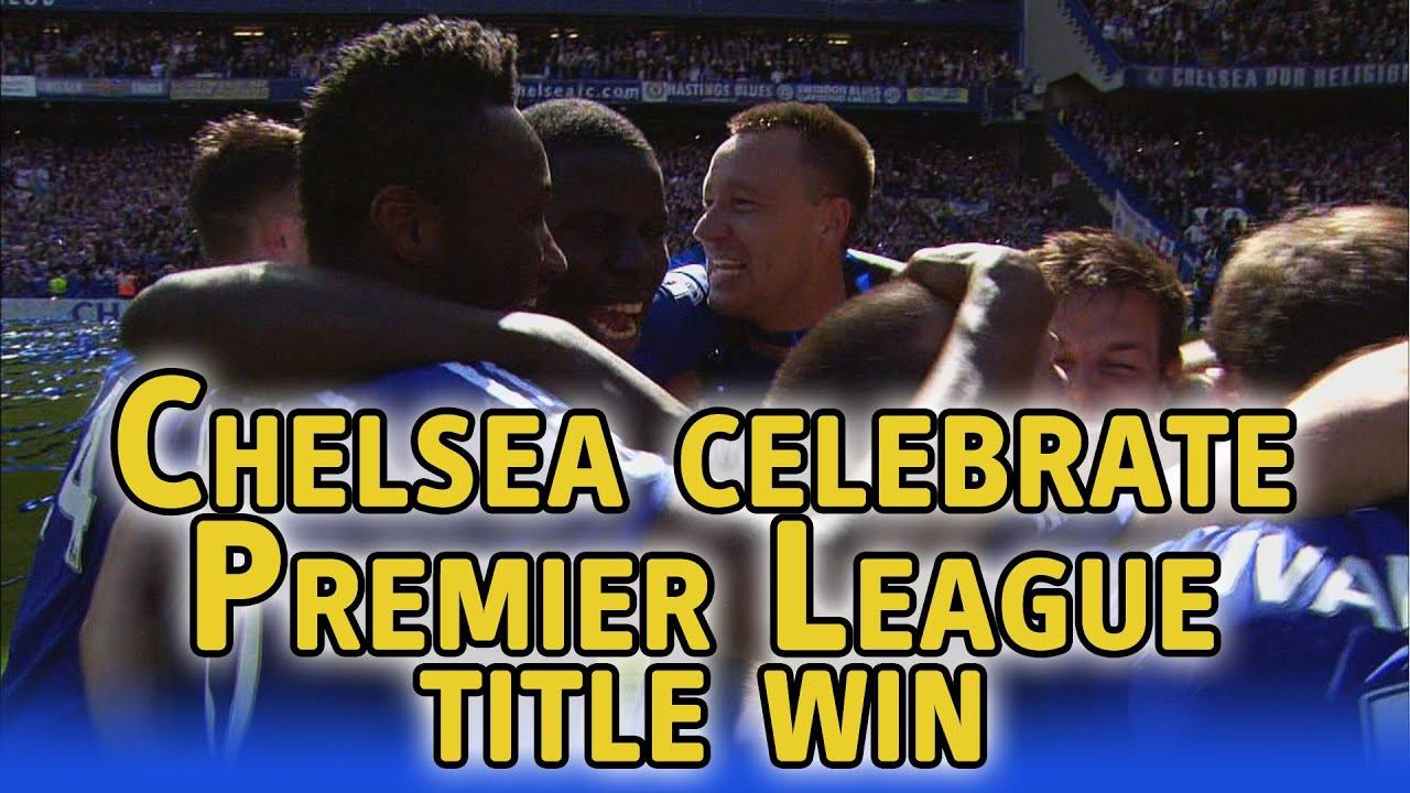 Chelsea celebrate winning Premier League title at Stamford Bridge