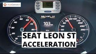 Seat Leon ST FR 1.8 TSI 180 KM - acceleration 0-100 km/h
