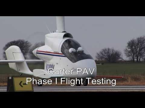 Carter PAV Phase I Flight Testing Highlights