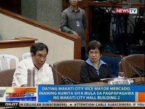 Ex-Makati Vice Mayor Mercado, inaming kumita siya mula sa pagpapagawa ng Makati City Hall Bldg. 2