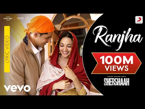 Ranjha - Lyric Video|Shershaah|Sidharth-Kiara|B Praak|Jasleen Royal|Anvita Dutt