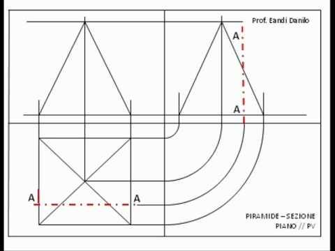 Piramide: sezione piano // PV