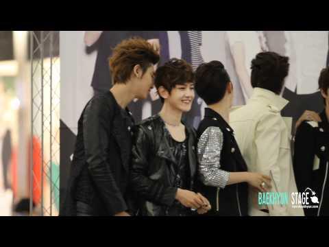 [HD Fancam] 120525 EXO @ Fansigning Event (ChanBaek moment)