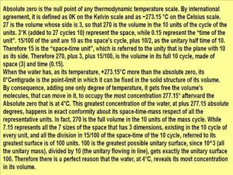 Perché l'acqua gela a 0° e bolle a 100° esatti?wmv