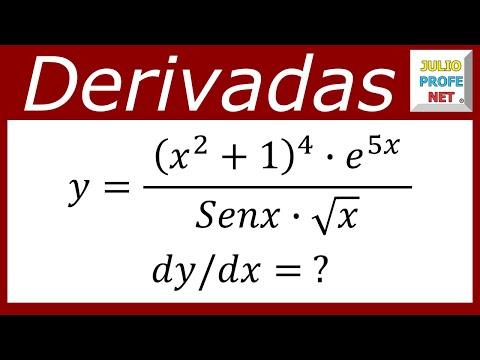 Ejercicio sobre derivación logarítmica