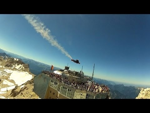 Best Wingsuit Flyby Zugspitze, Germany