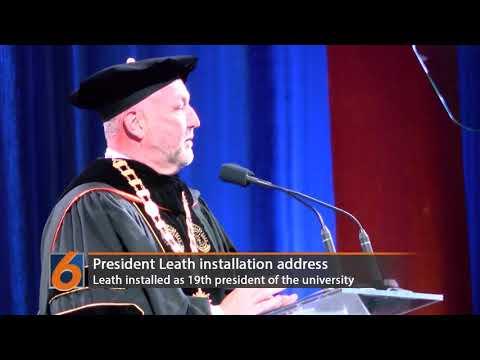 President Steven Leath is installed as the 19th president of Auburn University.