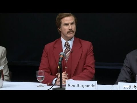Ron Burgundy Emerson College Press Conference: Anchorman Reveals Key to Journalism Greatness
