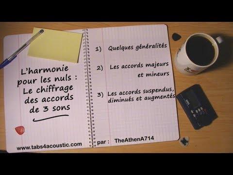 Cours de guitare : L'harmonie pour les nuls - le chiffrage d'accords de 3 sons - Partie 1