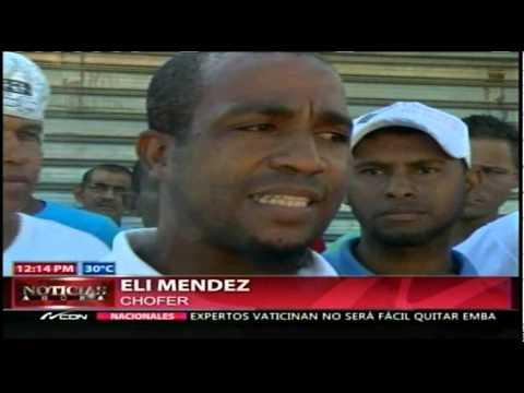 Choferes de concho paralizan servicio en la Núñez…