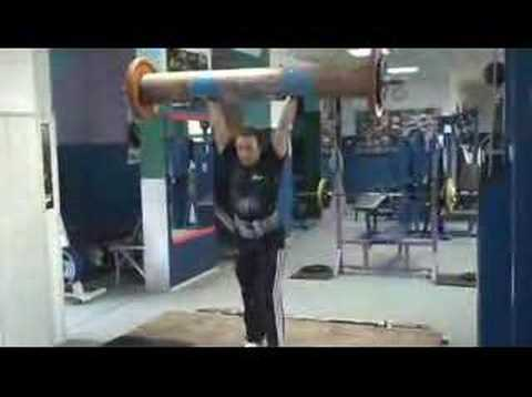 Aneta Florczyk - 105 kg log lift