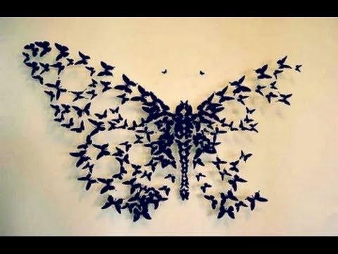 Butterfly Wall Art DIY Big Butterfly Wall Decor