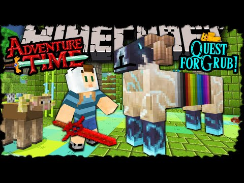 Minecraft: Adventure Time - Finn's Quest for Ramicorn Grub! - Trapped in Twilight Forest! Episode 17