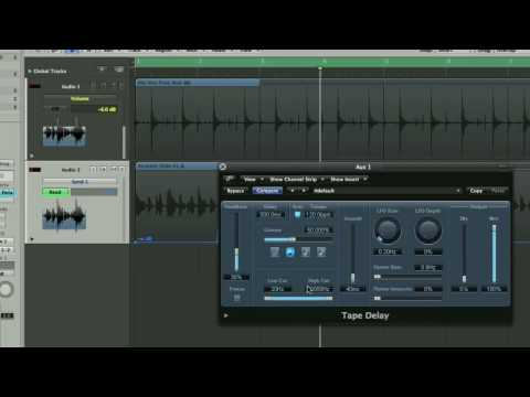 Logic Pro Automating Delays