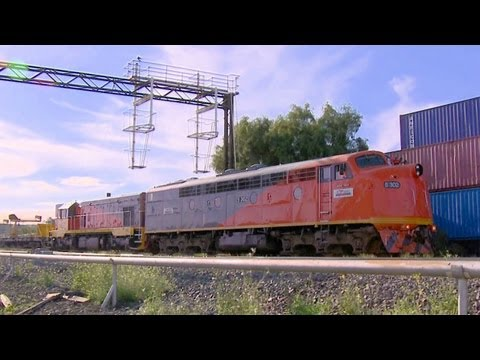El Zorro T342 &amp; S302 with rail reclamation train - Australian EMD Diesel Locomotives part 7