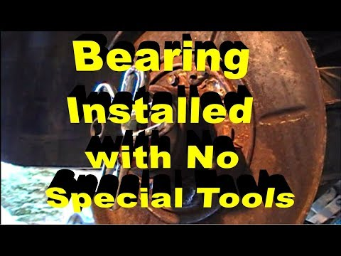 Rear Wheel Bearing Installation with no special tools BMW 325i e46