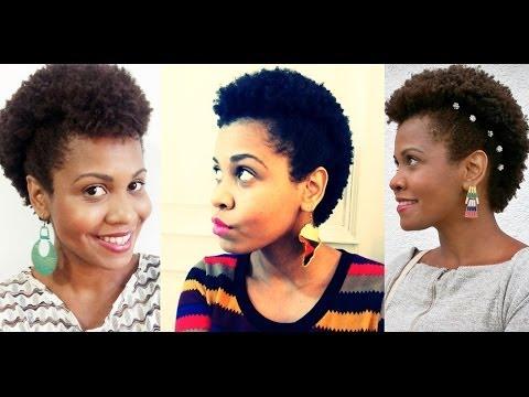 3 Penteados para cabelo crespo curto (Moicano)