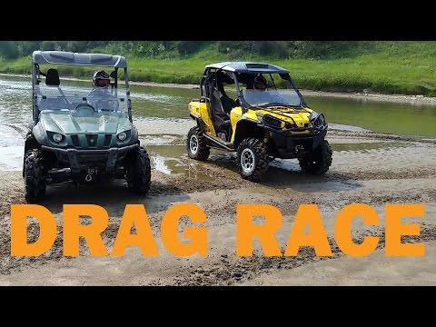Can Am Commander 1000 vs Yamaha Rhino 700 Drag Race - UCHzWQ2FSilpLRlHSTa21KYA