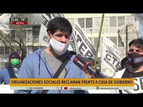 Organizaciones sociales reclamaron frente a Casa de Gobierno