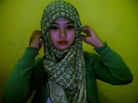 hijab tutorial - hana tajima style  ( 4chubby faces).wmv