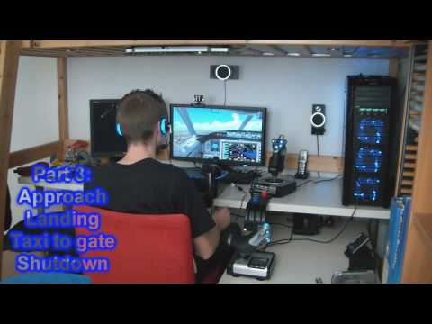 My PC Flight Simulator setup Demo Flight 1 Part 3 - Boeing 737 [HD 720p]