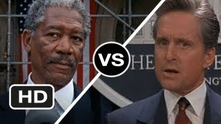 Morgan Freeman vs. Michael Douglas - Which Movie President Would You Vote For? Movie HD
