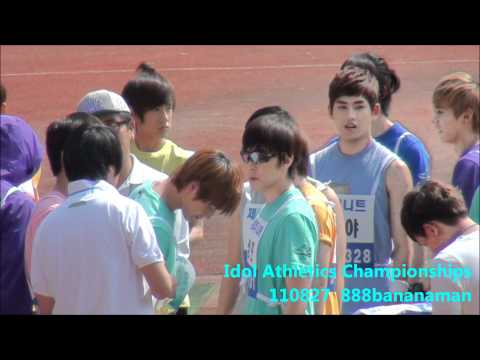 [fancam] 110827 Idol Athletics Championships Super Junior  SHINee Forcus Sungmin  Onew