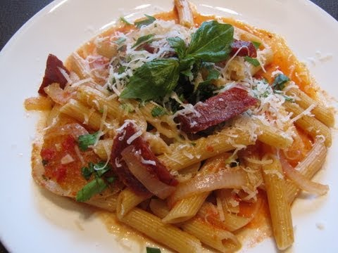 Easy Italian Recipes - Salami Pasta
