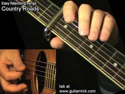 Country Roads, John Denver - learn how to play easy on acoustic guitar - lesson, chords & tab