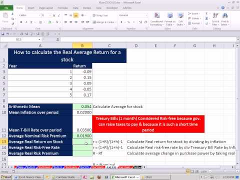 Excel Finance Class 101: Average Real Return For A Stock Based On Historical Data