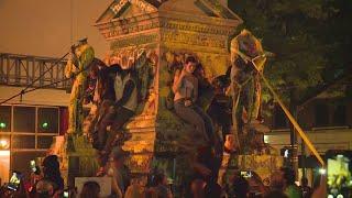 Война с памятниками Конфедерации в США (13.06.2020) (фото)