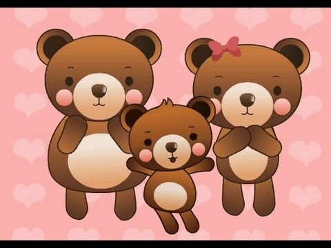 Three Bears   | nursery rhymes &amp; children songs with lyrics | muffin songs